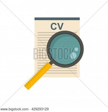 Internship Cv Paper Icon. Flat Illustration Of Internship Cv Paper Vector Icon Isolated On White Bac
