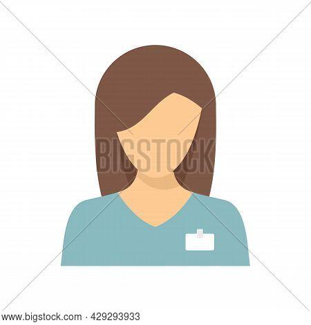 Woman Gynecologist Icon. Flat Illustration Of Woman Gynecologist Vector Icon Isolated On White Backg