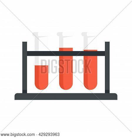Gynecologist Test Tubes Icon. Flat Illustration Of Gynecologist Test Tubes Vector Icon Isolated On W