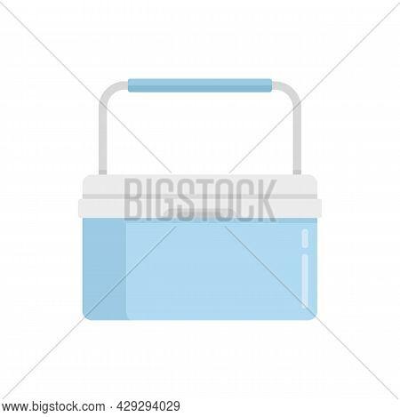 Portable Fridge Box Icon. Flat Illustration Of Portable Fridge Box Vector Icon Isolated On White Bac