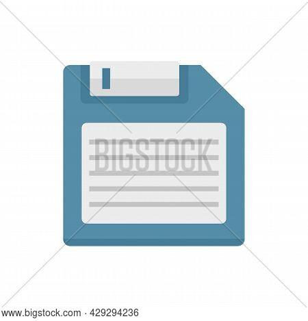 Storage Floppy Disk Icon. Flat Illustration Of Storage Floppy Disk Vector Icon Isolated On White Bac