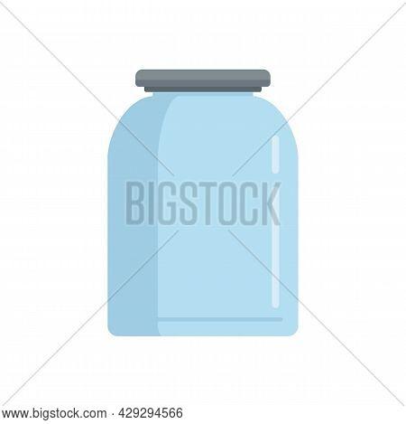 Storage Glass Jar Icon. Flat Illustration Of Storage Glass Jar Vector Icon Isolated On White Backgro