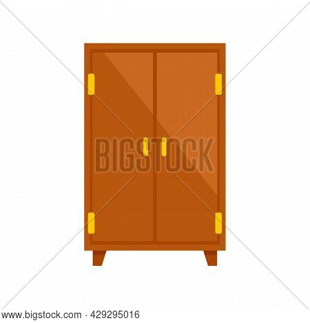 Storage Wardrobe Icon. Flat Illustration Of Storage Wardrobe Vector Icon Isolated On White Backgroun