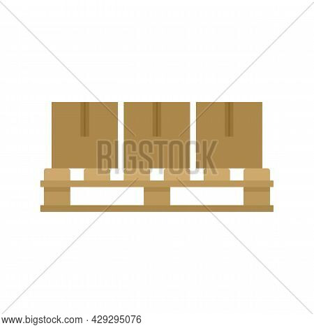 Storage Parcel Pallet Icon. Flat Illustration Of Storage Parcel Pallet Vector Icon Isolated On White