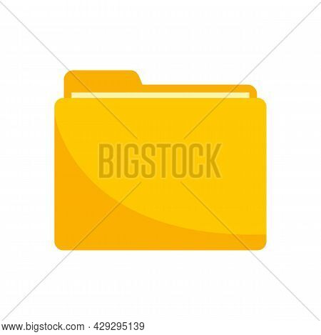 Storage Computer Folder Icon. Flat Illustration Of Storage Computer Folder Vector Icon Isolated On W