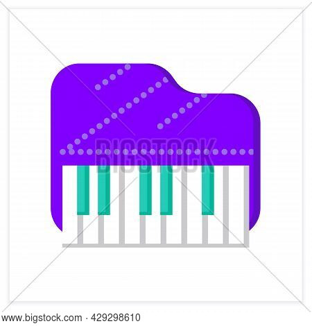 Piano Flat Icon. Classical Acoustic Keyboard Orchestral Musical Instrument. Classical, Ethnic And Mo
