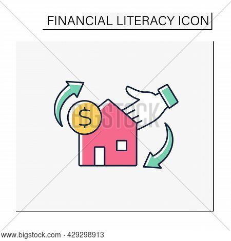 Invest Color Icon. Real-estate Purchases And Refinances. Buying Buildings. Investition In Profitable
