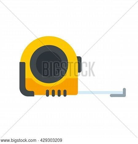 Measurement Tape Icon. Flat Illustration Of Measurement Tape Vector Icon Isolated On White Backgroun