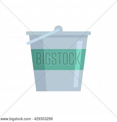 Reconstruction Metal Bucket Icon. Flat Illustration Of Reconstruction Metal Bucket Vector Icon Isola