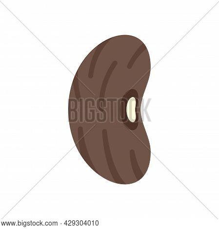 Harvest Kidney Bean Icon. Flat Illustration Of Harvest Kidney Bean Vector Icon Isolated On White Bac