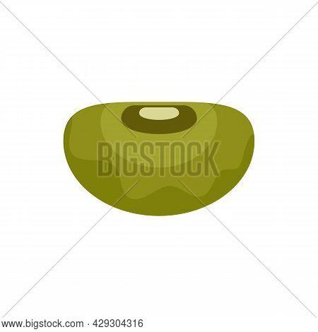 Health Kidney Bean Icon. Flat Illustration Of Health Kidney Bean Vector Icon Isolated On White Backg
