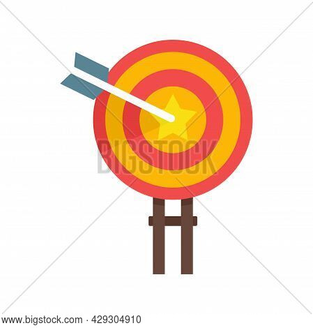 Excellence Target Icon. Flat Illustration Of Excellence Target Vector Icon Isolated On White Backgro