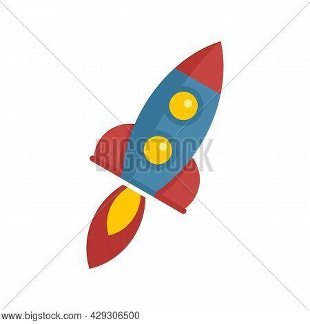 Power Rocket Innovation Icon. Flat Illustration Of Power Rocket Innovation Vector Icon Isolated On W