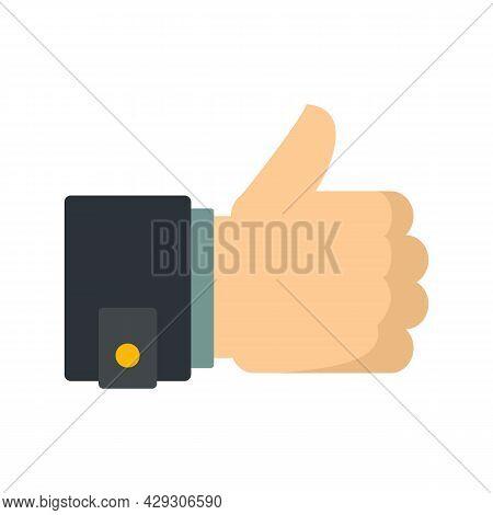 Thumb Up Innovation Icon. Flat Illustration Of Thumb Up Innovation Vector Icon Isolated On White Bac