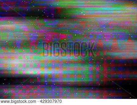 Glitch Background Computer Screen Error Digital Pixel Noise Abstract Design Photo Glitch Television
