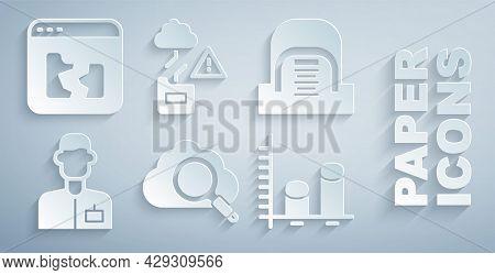 Set Search Cloud Computing, Hangar With Servers, Analyst Engineer, Data Analysis, Cloud Technology D