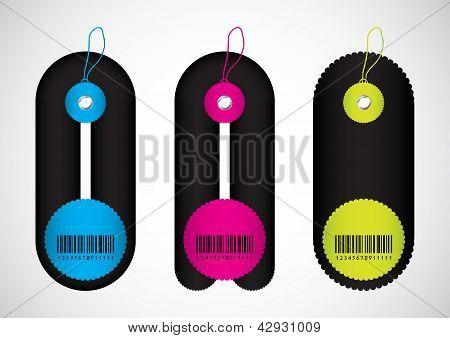 Etiquetas de precio con diseño especial