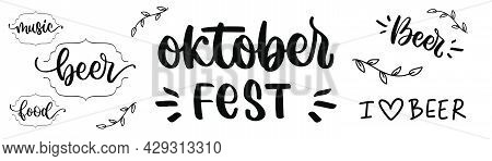 Oktoberfest in doodle. Beer fest collection in sketch. Oktoberfest holiday. Beer fest illustration