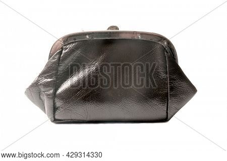 Old purse isolated on white