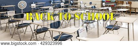 A High School Class Room Is Set Up Eith Desks Separated By Six Feet With Every Other Desk Unavailabl