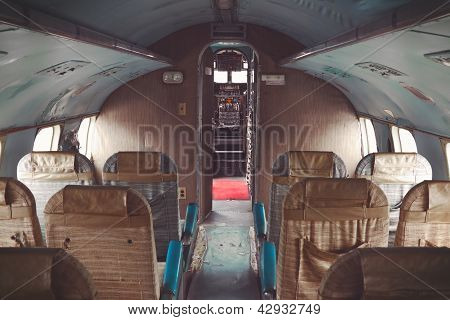 Interior of an old plane