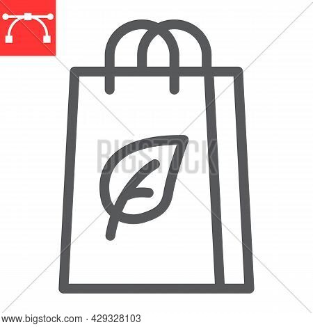 Eco Bag Line Icon, Reusable And Ecology, Ecobag Vector Icon, Vector Graphics, Editable Stroke Outlin