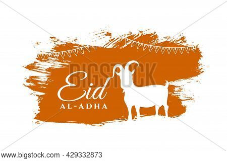 Eid Al Adha Kurbaani Bakrid Festival Card Design Vector Illustration