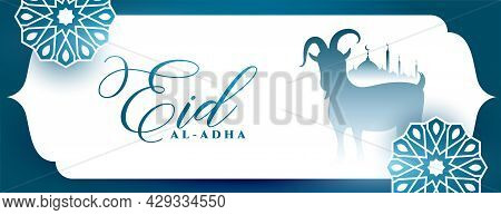 Decorative Eid Al Adha Bakrid Celebration Banner Design