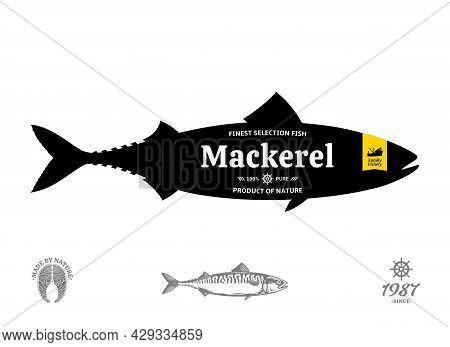 Vector Mackerel Label