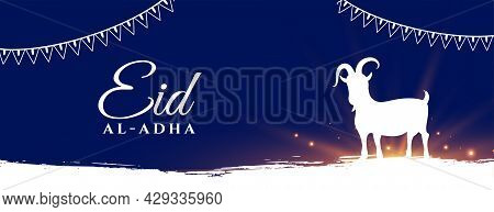 Eid Al Adha Muslim Bakrid Festival Holiday Banner Design Vector Illustration
