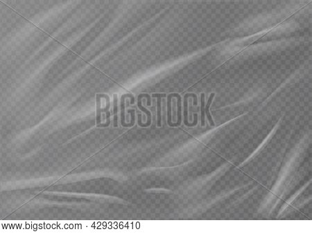 Realistic Plastic Wrap Texture . Stretched Polyethylene Cover