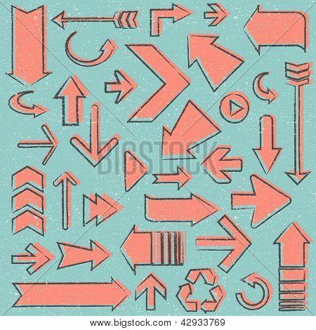 vector vintage arrows drawing