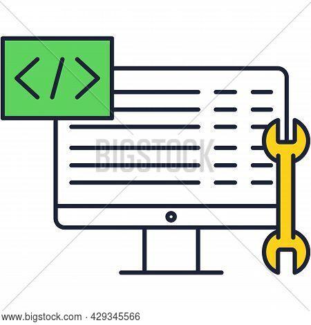 Web Development Back End Vector Flat Icon
