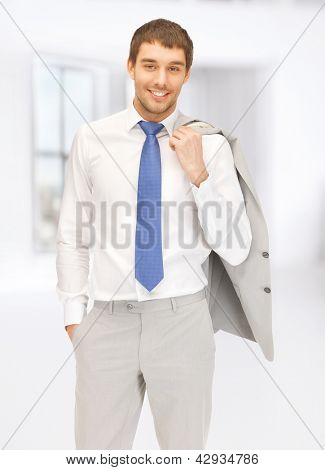 bright picture of handsome man in suit