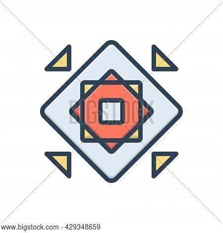 Color Illustration Icon For Modularize Modular Structure Organization Marketing  Design  Development
