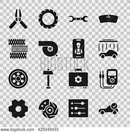 Set Auto Service Check Automotive, Multimeter, Car Wash, Wrench Spanner, Automotive Turbocharger, Ti