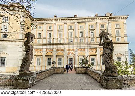 Caprarola, Viterbo, Lazio, Italy, April 2019: Inside Of Farnese Palace, Also Named Villa Farnese, Fa