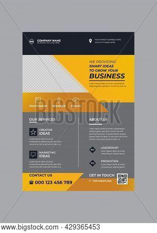 Creative Corporate Business Flyer Design Template Vector