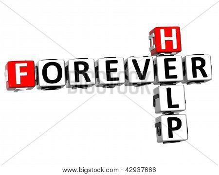 3D Forever Help Crossword