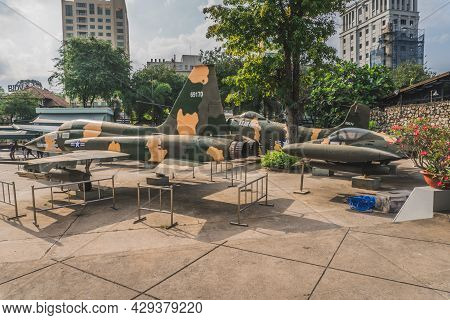 Plane At The Ho Chi Minh City War Museum. Ho Chi Minh, Vietnam - March 19, 2020