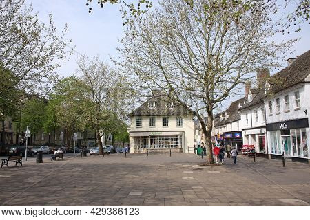 Views Of Market Square In Witney, Oxfordshire In The Uk, Taken 5th May 2008