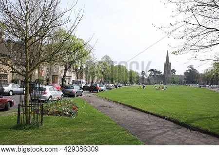 Views Of St Mary\'s Church And Church Green In Witney, Oxfordshire In The Uk, Taken 5th May 2008