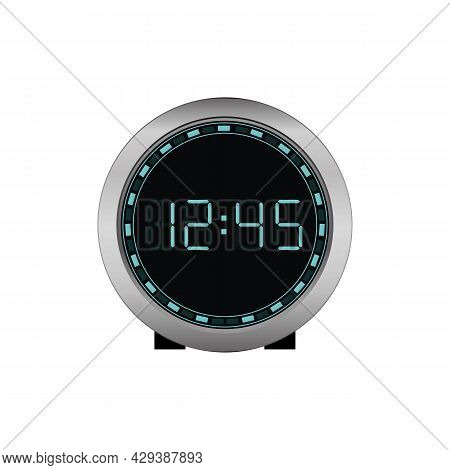 Digital Clock. Electronic Figures. Vector Illustration Eps 10