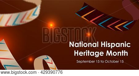 Hispanic National Heritage Month In September And October. Hispanic And Latino Culture. Latin Americ