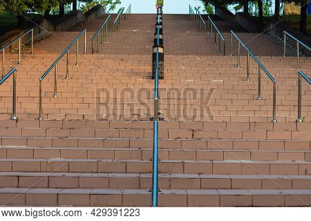 The Empty Staircase On A Normally Busy Place Due To The Lockdown Of Malaysia In The Corona Cov19 Cri