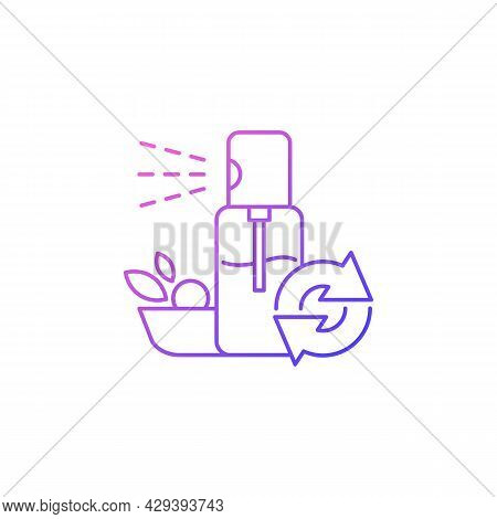 Salad Oils Refill Gradient Linear Vector Icon. Bottle With Food Dressing. Eco Friendly Package. Reus