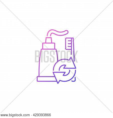 Toothpaste Refill Gradient Linear Vector Icon. Dental Care. Mouth Hygiene. Eco Friendly Package. Reu