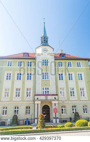 Strzegom, Poland - June 3, 2021: City Hall Of Strzegom City.