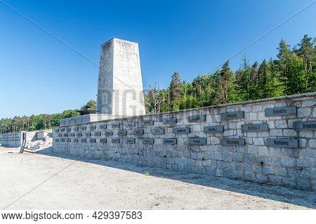 Rogoznica, Poland - June 3, 2021: Gross-rosen Memorial. Gross-rosen Was A Network Of Nazi Concentrat