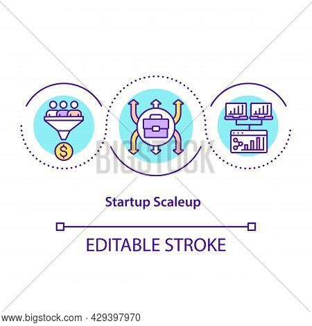 Startup Scaleup Concept Icon. Company Growth And Business Development. Successful Strategy. Start Up